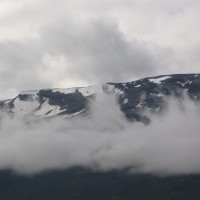 Pilvet alhaalla Islanti