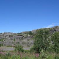 Riksgränsen Norjan ja Ruotsin välillä lähellä Narvikia