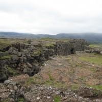 Mannerlaattojen erkaantumiskohta Islannissa