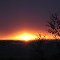 Myrskyillan auringonlasku
