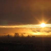 Pienempi versio kuvasta Aurinko Söderfjädenillä Marraskuussa