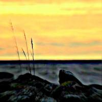 Auringonlasku luotsiasemalla 16.11.2013